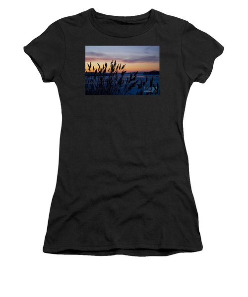 Winter Sunset  Women's T-Shirt (Junior Cut) by Paula Guttilla