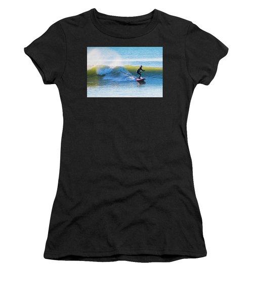 Winter Surfing In Aberystwyth Women's T-Shirt