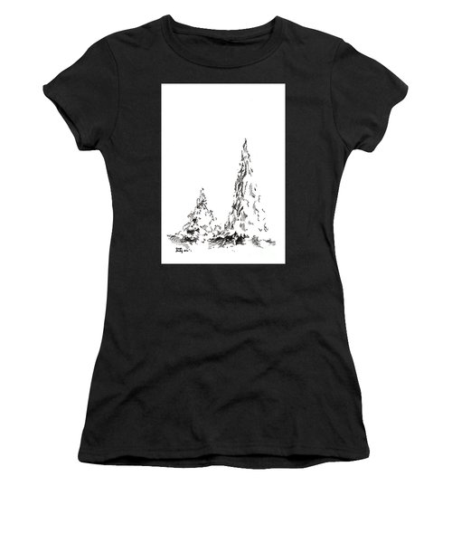 Winter Trees 2 - 2016 Women's T-Shirt (Athletic Fit)
