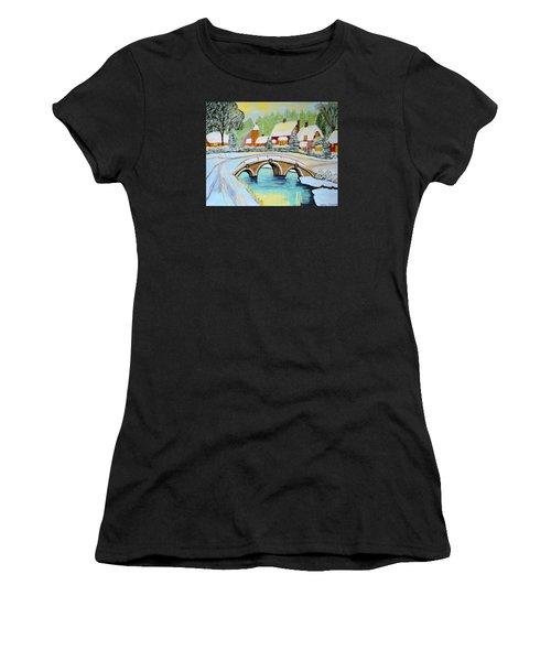 Winter Village Women's T-Shirt (Athletic Fit)
