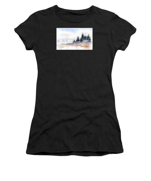 Winter Watercolor Painting Women's T-Shirt