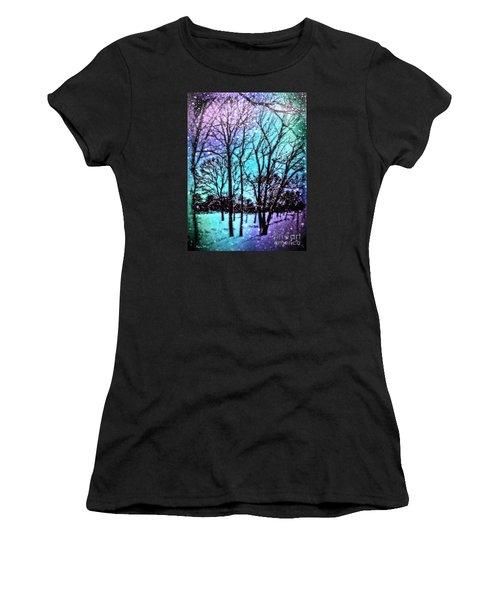 Winter Wonderland Painting Women's T-Shirt