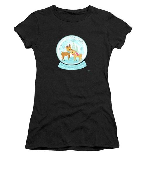 Winter Wonderland Snow Globe Women's T-Shirt
