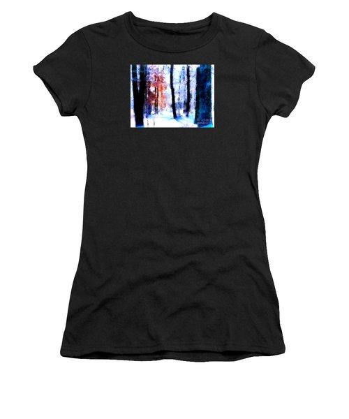 Winter Woods Women's T-Shirt (Junior Cut) by Craig Walters