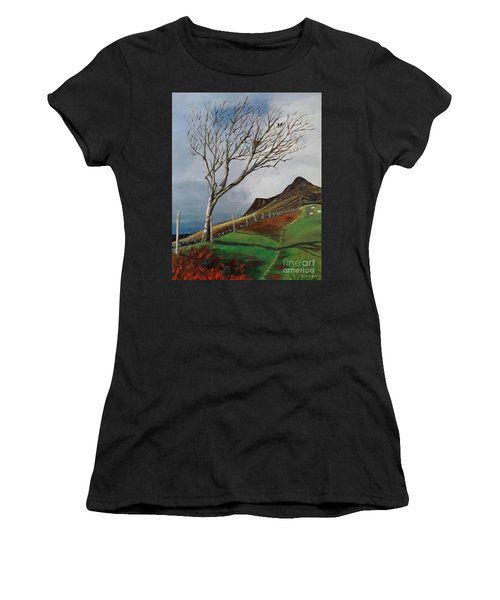 Winter's Day At Yewbarrow -painting Women's T-Shirt (Athletic Fit)