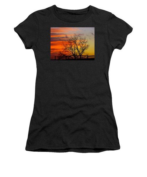 Winter's Scene Women's T-Shirt (Junior Cut) by Donald C Morgan