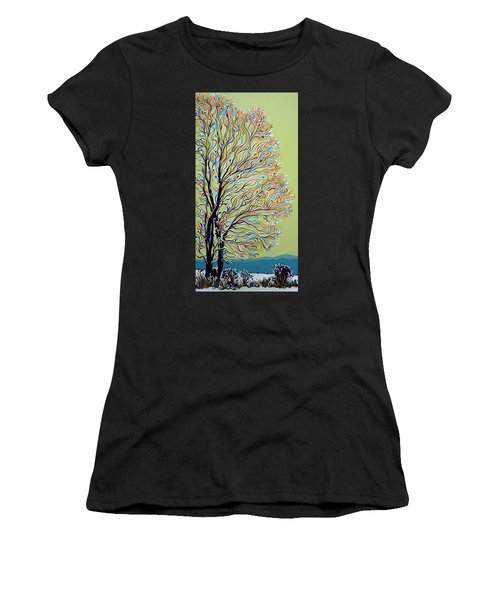 Wintertainment Tree Women's T-Shirt (Athletic Fit)