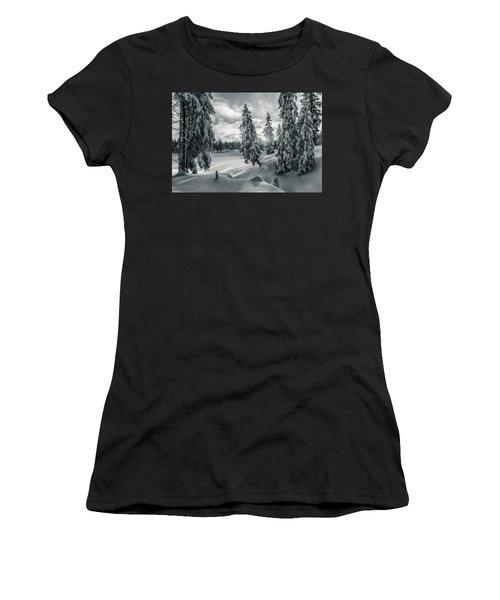 Winter Wonderland Harz In Monochrome Women's T-Shirt