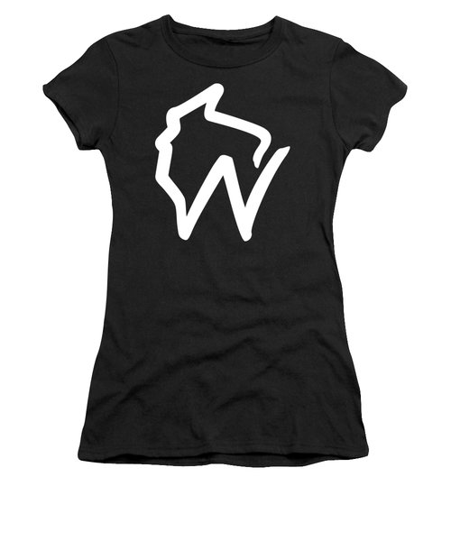 Wisconsin W Women's T-Shirt (Athletic Fit)