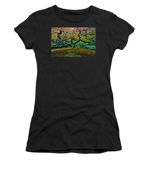 Women's T-Shirt (Junior Cut) featuring the photograph Wisdom Tree by Jonathan Davison