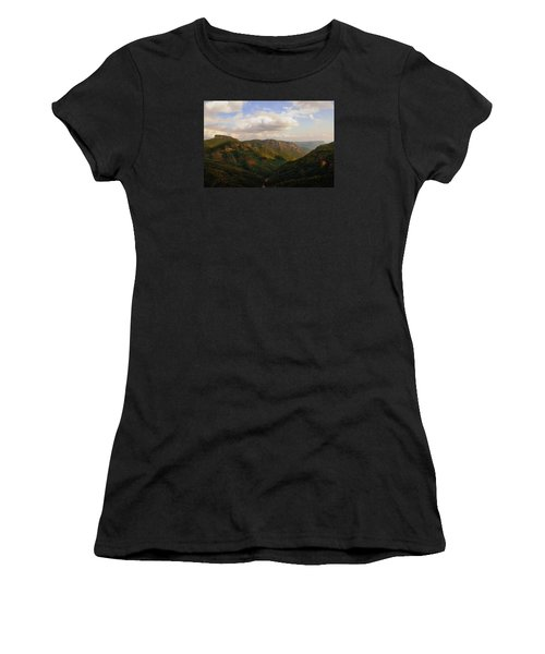 Women's T-Shirt (Junior Cut) featuring the photograph Wiseman's View by Jessica Brawley