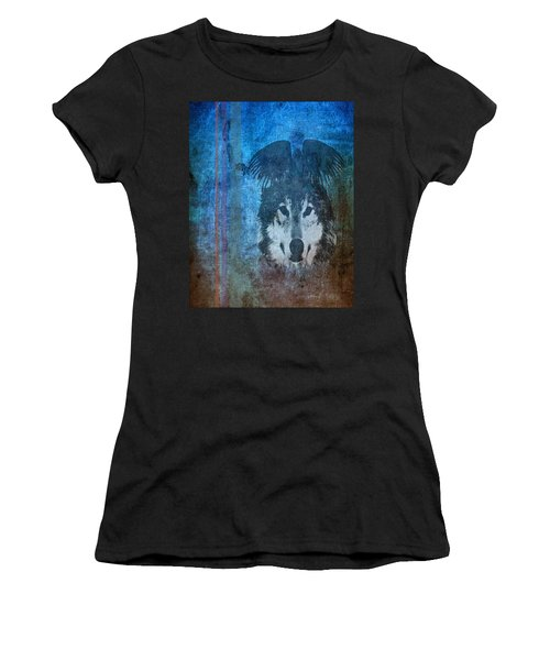 Wolf And Raven Women's T-Shirt (Athletic Fit)
