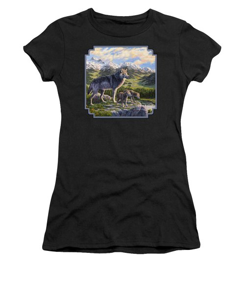 Wolf Painting - Passing It On Women's T-Shirt (Athletic Fit)