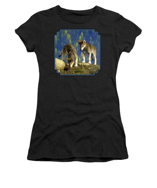 Wolf Pups - Anybody Home Women's T-Shirt