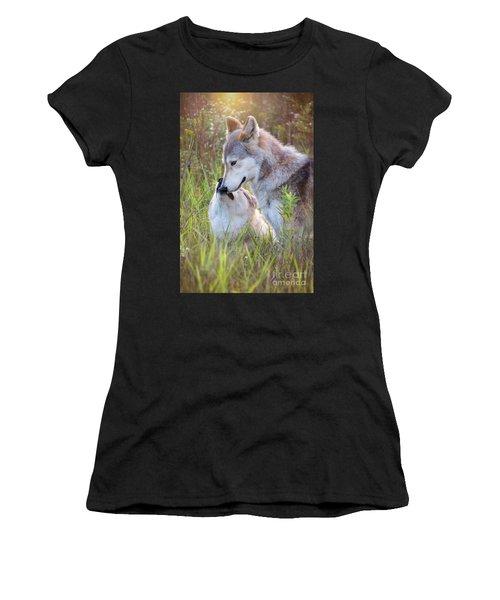 Wolf Soul Mates Women's T-Shirt (Athletic Fit)