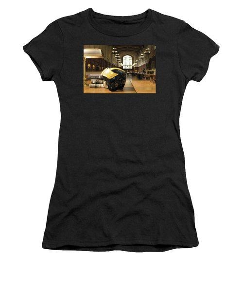 Wolverine Helmet In Law Library Women's T-Shirt