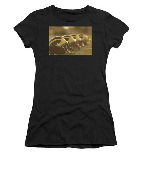 Wolverine Helmets Sparkling In Dawn Sunlight Women's T-Shirt (Athletic Fit)