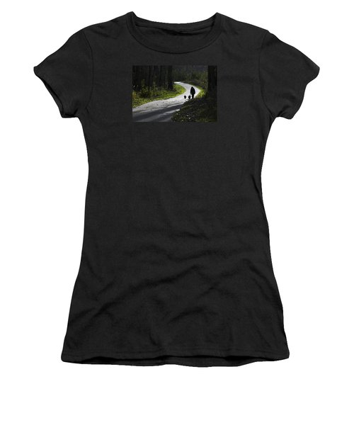Woman And Border Collies Women's T-Shirt