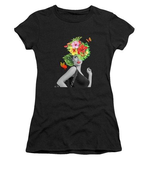 Woman Floral  Women's T-Shirt (Junior Cut)