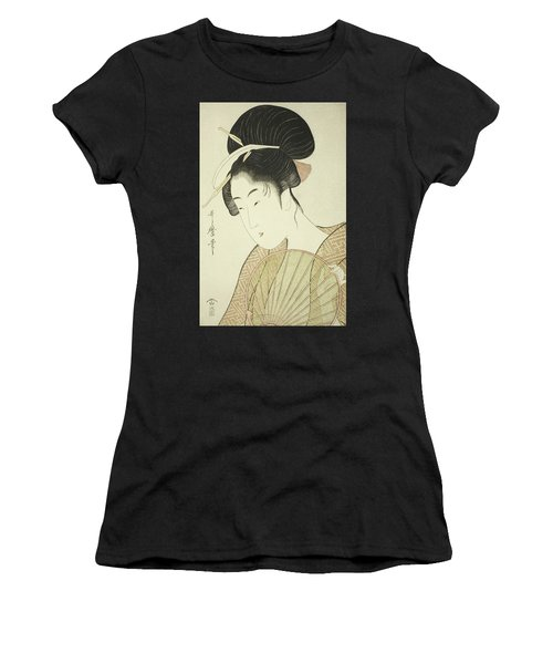 Woman Holding A Round Fan Women's T-Shirt