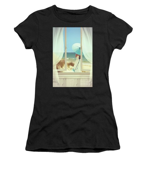 Woman On The Beach Women's T-Shirt