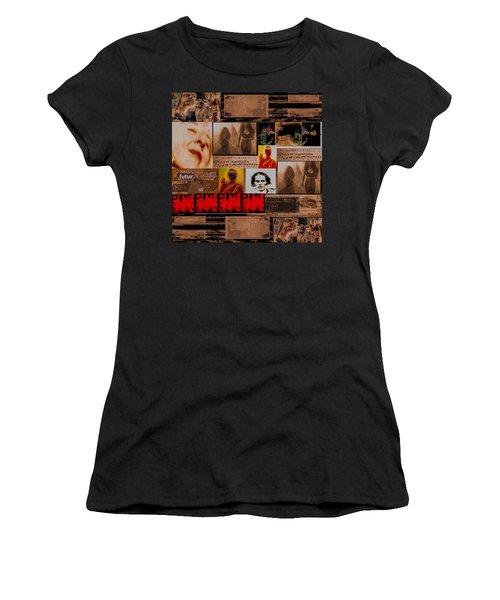 Woman Power Story Women's T-Shirt (Junior Cut) by Danica Radman