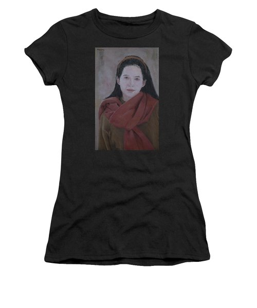 Woman With Scarf Women's T-Shirt (Athletic Fit)