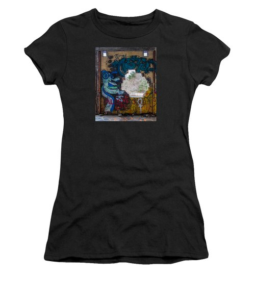 Wompatuck Graffiti Man Women's T-Shirt (Athletic Fit)
