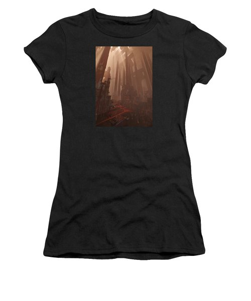 Wonders_temple Of Artmeis Women's T-Shirt (Athletic Fit)