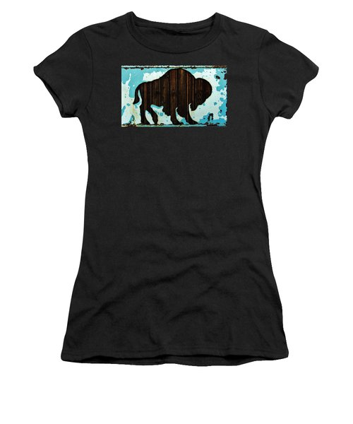 Women's T-Shirt (Athletic Fit) featuring the photograph Wood Buffalo by Larry Campbell