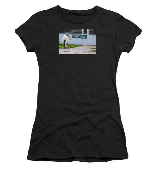 Wood Stork  Women's T-Shirt (Athletic Fit)