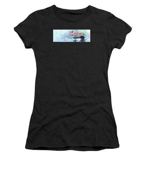 Wooden Boat Blues Women's T-Shirt (Athletic Fit)