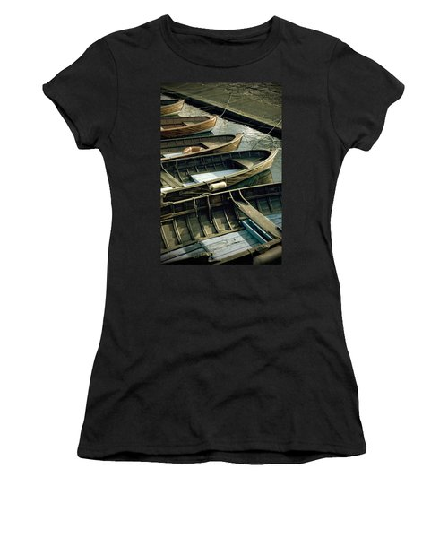Wooden Boats Women's T-Shirt (Athletic Fit)