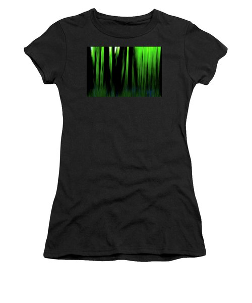 Woodland Abstract Iv Women's T-Shirt (Athletic Fit)