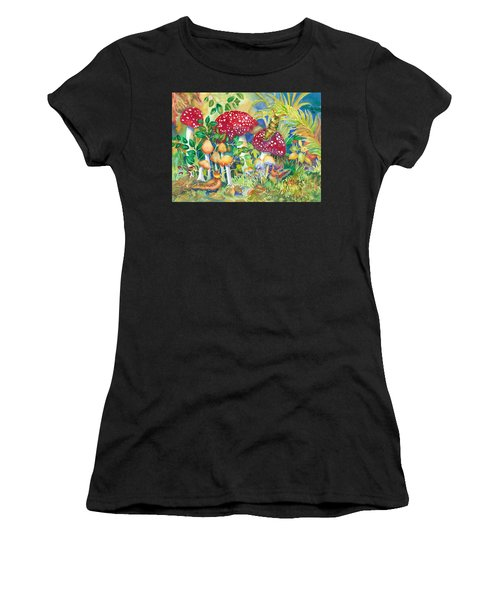 Woodland Visitors Women's T-Shirt (Athletic Fit)
