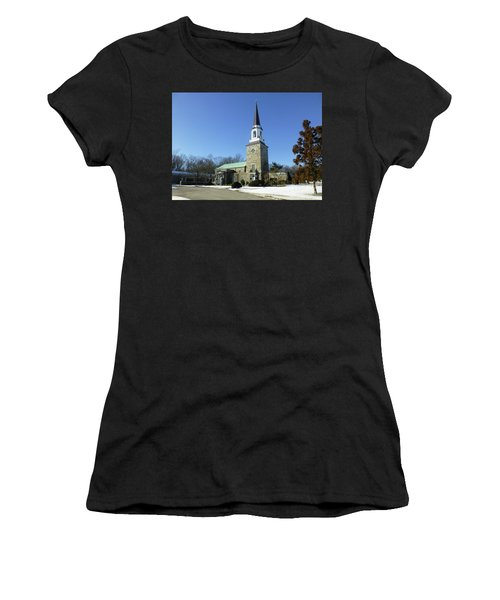 Woodlawn Cemetery Chapel Women's T-Shirt (Athletic Fit)