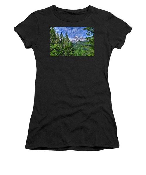 Woods Surrounding Mt. Rainier Women's T-Shirt