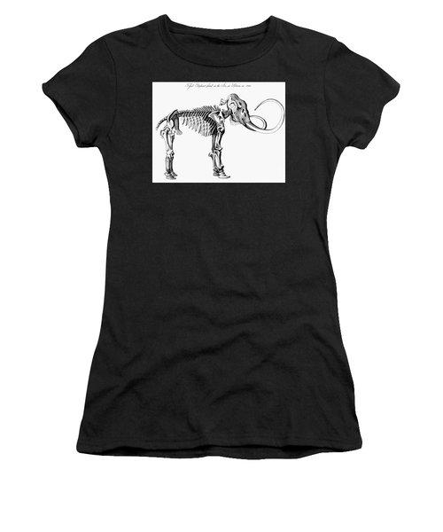 Woolly Mammoth Skeleton Women's T-Shirt