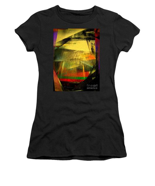 Women's T-Shirt (Junior Cut) featuring the painting Work Bench by Greg Moores