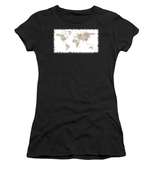 World Map Women's T-Shirt (Athletic Fit)