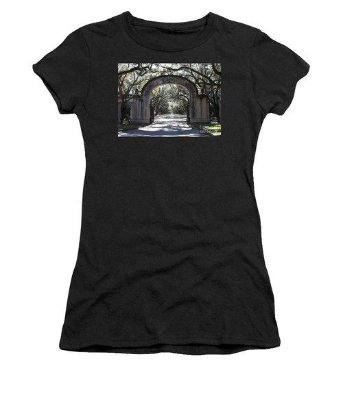 Wormsloe Plantation Gate Women's T-Shirt (Athletic Fit)