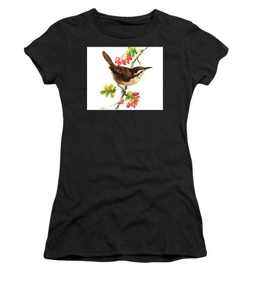 Wren And Rosehips Women's T-Shirt (Junior Cut)