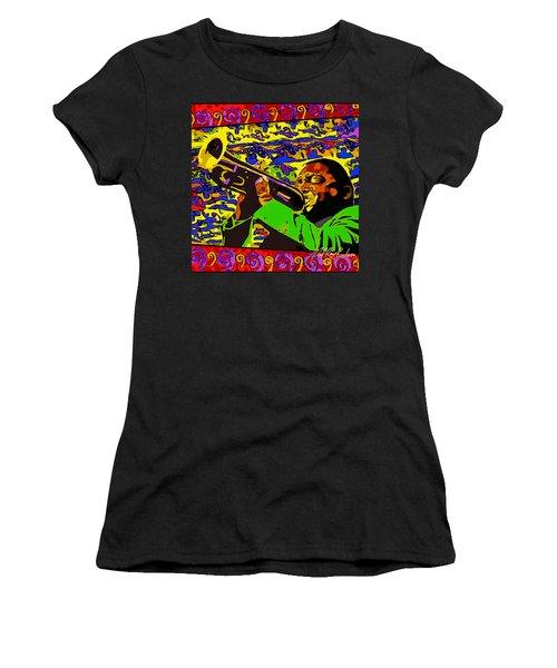 Wynton Marsalis Plays Louis Armstrong Rework Women's T-Shirt