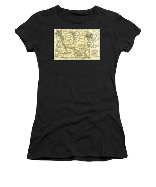 Wyoming Antique Map 1891 Women's T-Shirt