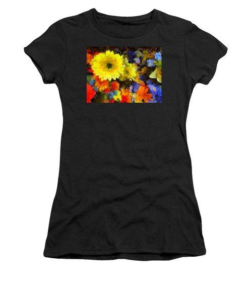 Xtreme Floral Seventeen Into The Depths Women's T-Shirt (Junior Cut) by Spyder Webb