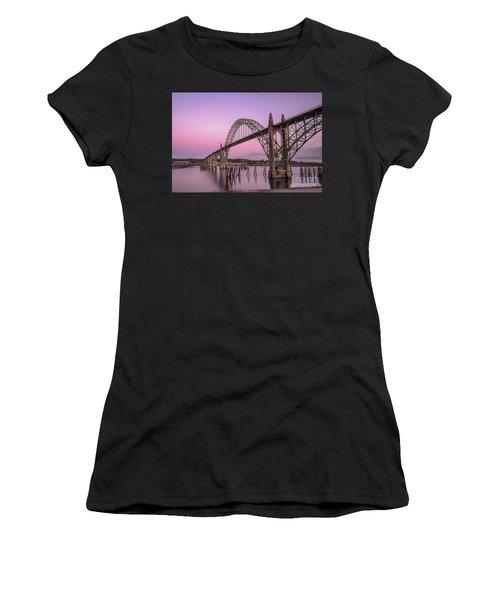 Yaquina Bay Bridge In Blue Light Women's T-Shirt