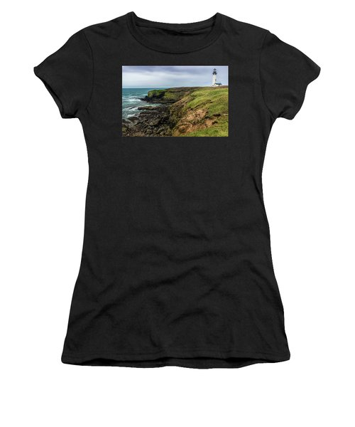 Yaquina Head Light Women's T-Shirt (Athletic Fit)