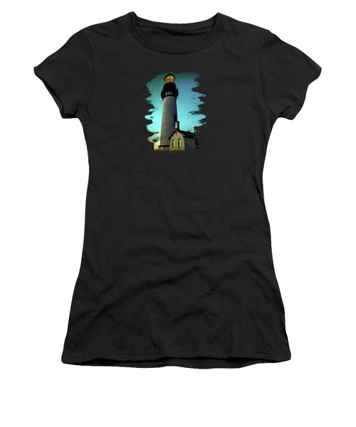 Yaquina Head Lighthouse At Sunset Women's T-Shirt (Athletic Fit)