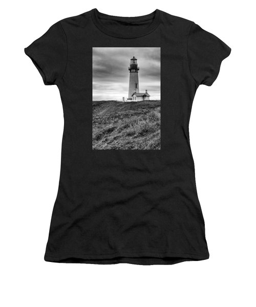 Yaquina Head Lighthouse - Monochrome Women's T-Shirt