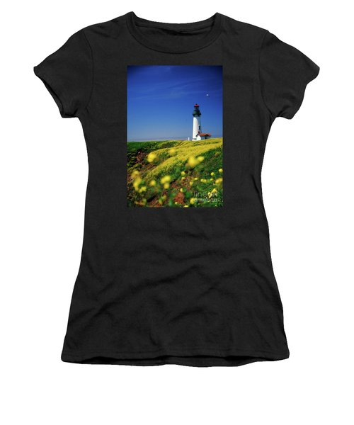Yaquina Head Lighthouse- V2 Women's T-Shirt (Athletic Fit)